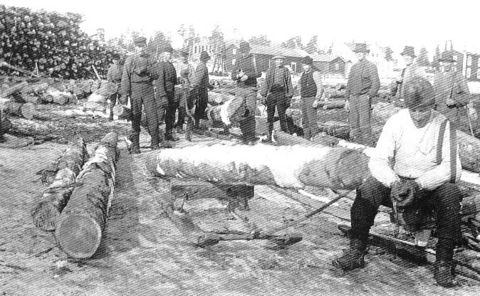 Arbetet vid sågen var ofta slitsamt